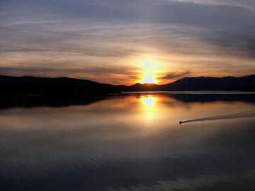 Lake Pend Oreille Sunset from Hope Idaho