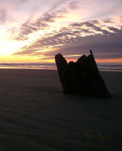 Sunset at Cape Cod Cottages - Waldport, OR