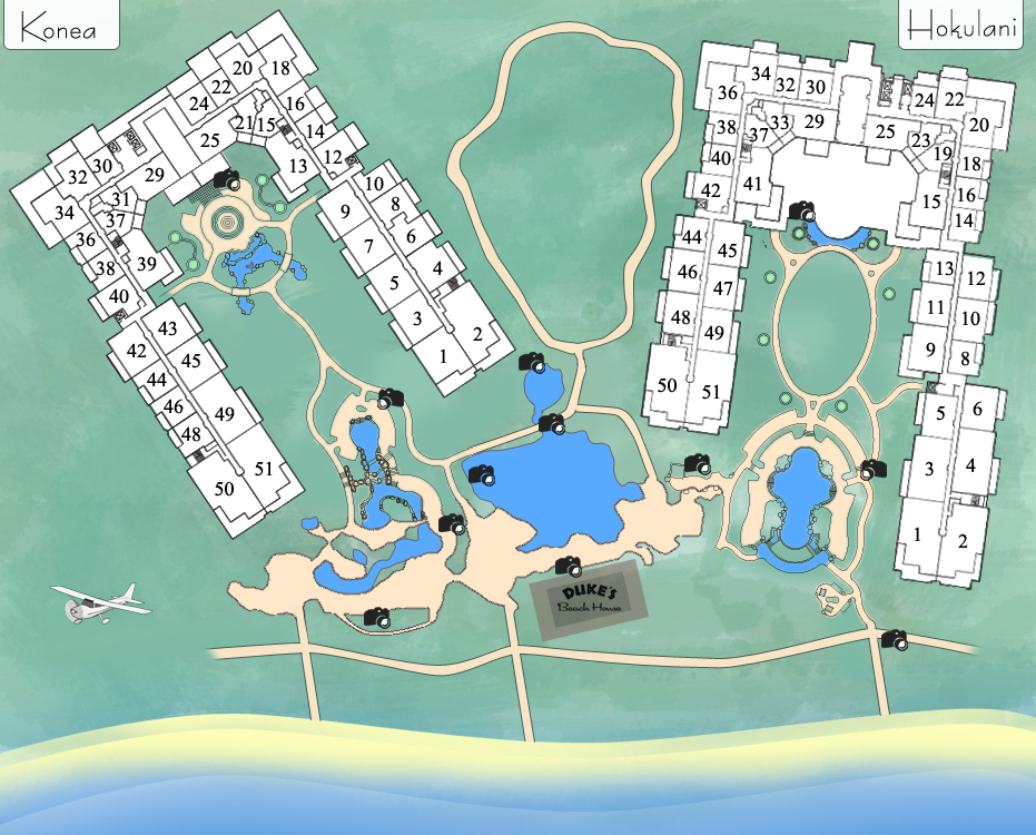 Map of the Honua Kai Resort.