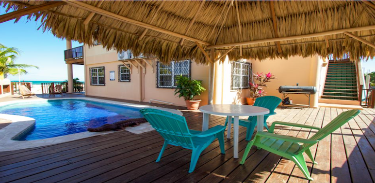 swimming pool at mirasol beach apartments