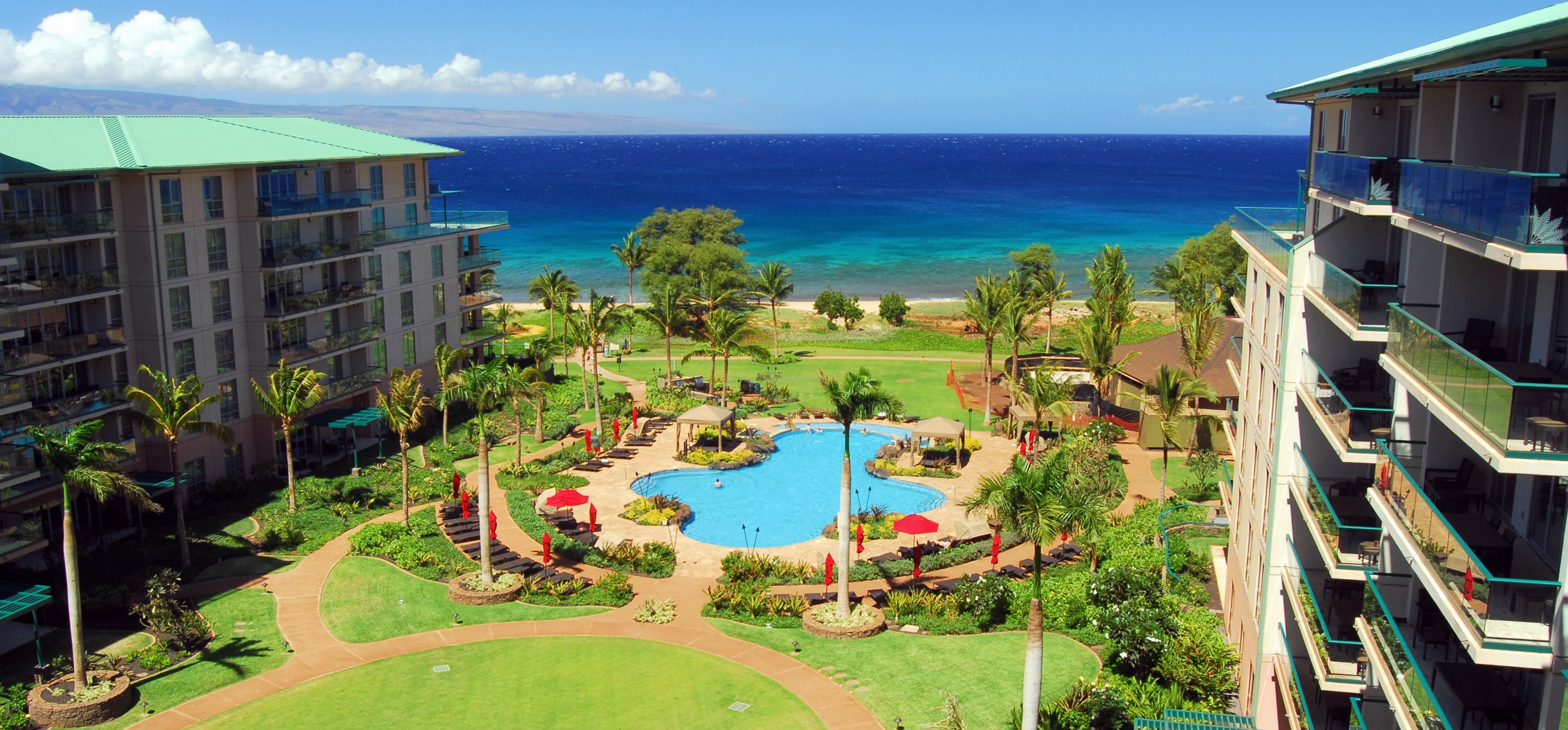 Kaanapali Beach Rentals  - Resort Grounds w/Pool